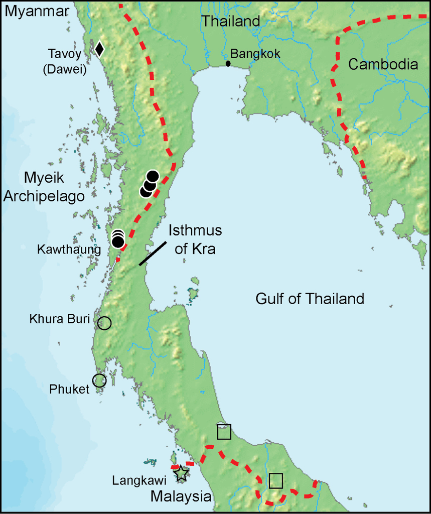 Resurrection of Bronchocela burmana Blanford, 1878 for the ... on isthmus of corinth map, isthmus of kra southeast asia, thai canal, phang nga province, surat thani, kra canal map, kra isthmus located on the map, kra buri river map, isthmus of burma, isthmus of kra 200 bce, plateau of mexico map, isthmus of panama map, isthmus of panama, malay peninsula, isthmus of thailand, isthmus of suez map, isthmus of tehuantepec on map, isthmus of corinth, isthmus panama on map, isthmus of darien map, isthmus of tehuantepec, krabi province, trang province, tapi river, thailand,